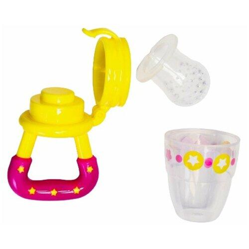 Купить Ниблер для прикорма, с силиконовой сеточкой Модница , цвет желтый+розовый 2357263, Mum&Baby, Бутылочки и ниблеры