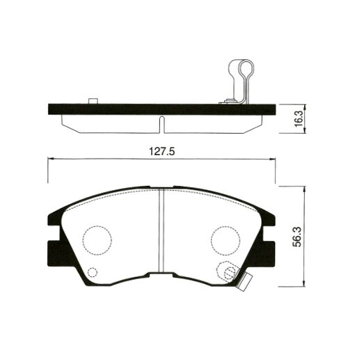 Фото - Дисковые тормозные колодки передние SANGSIN BRAKE SP1135 для Mitsubishi L200, Mitsubishi L300, Mitsubishi Delica, Mitsubishi Pajero (4 шт.) дисковые тормозные колодки передние trw gdb3435 для mitsubishi pajero sport mitsubishi montero mitsubishi l200 4 шт