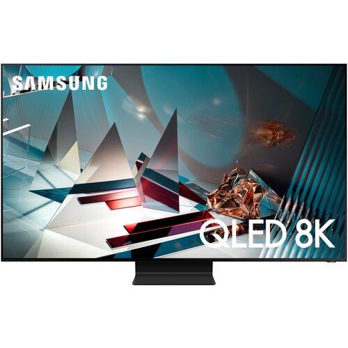 Фото - Телевизор QLED Samsung QE75Q800TAU 75 (2020), черный титан телевизор samsung ue43tu7500u 43 2020 серый титан