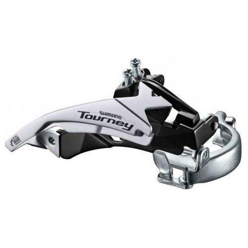 Переключатель передний для велосипеда Shimano Tourney, TY500, 6/7ск, ун. тяга, ун. хомут, уг.:66-69, для 42