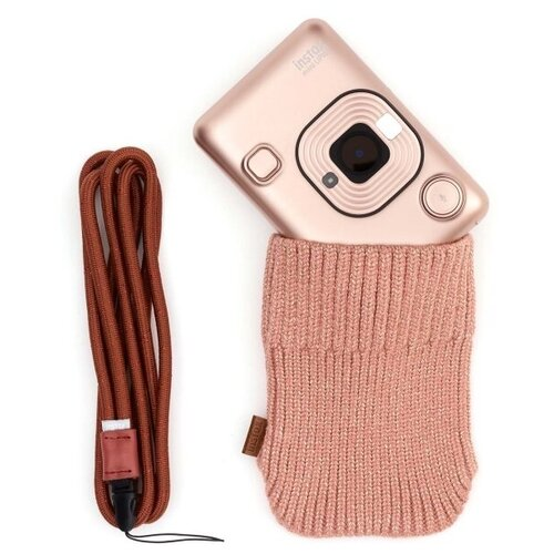 Фото - Фотоаппарат моментальной печати Fujifilm Instax Mini LiPlay Elegant Blush Gold Bundle чехол fujifilm для instax mini 11 blush pink