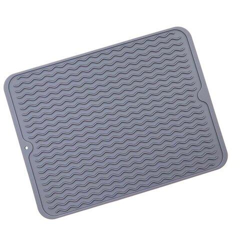 Силиконовый коврик для сушки посуды ZDK Волна Grey sill_0021