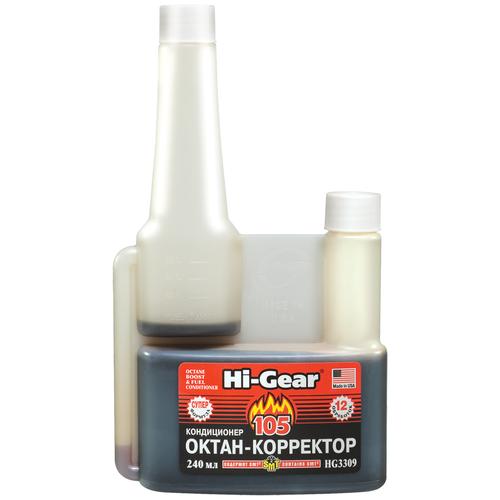 Hi-Gear HG3309 Октан-корректор и кондиционер для системы питания бензиновых двигателей, с SMT2, 240 мл