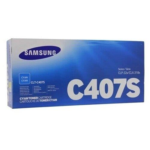 Фото - Картридж лазерный SAMSUNG CLT-C407S голубой (1000с картридж лазерный samsung clt y506s желтый 1500ст