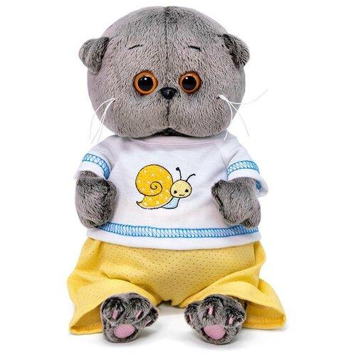 Фото - Мягкая игрушка Budi Basa Basik & Co Басик BABY в футболке с улиткой 20 см BB-081 игрушка мягкая budi basa басик baby в шапке панда 20 см bb 070