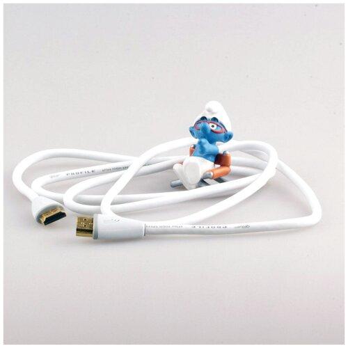 брюки qed london qed london qe001ewbofl0 Кабель HDMI - HDMI QED (QE5012) Profile eFlex HDMI White 1.0m