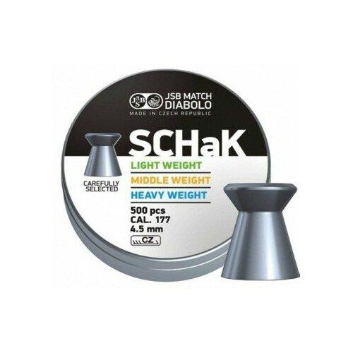 Пули JSB Match Diabolo SCHaK Light 4,5 мм, 0,475 грамм, 500 штук