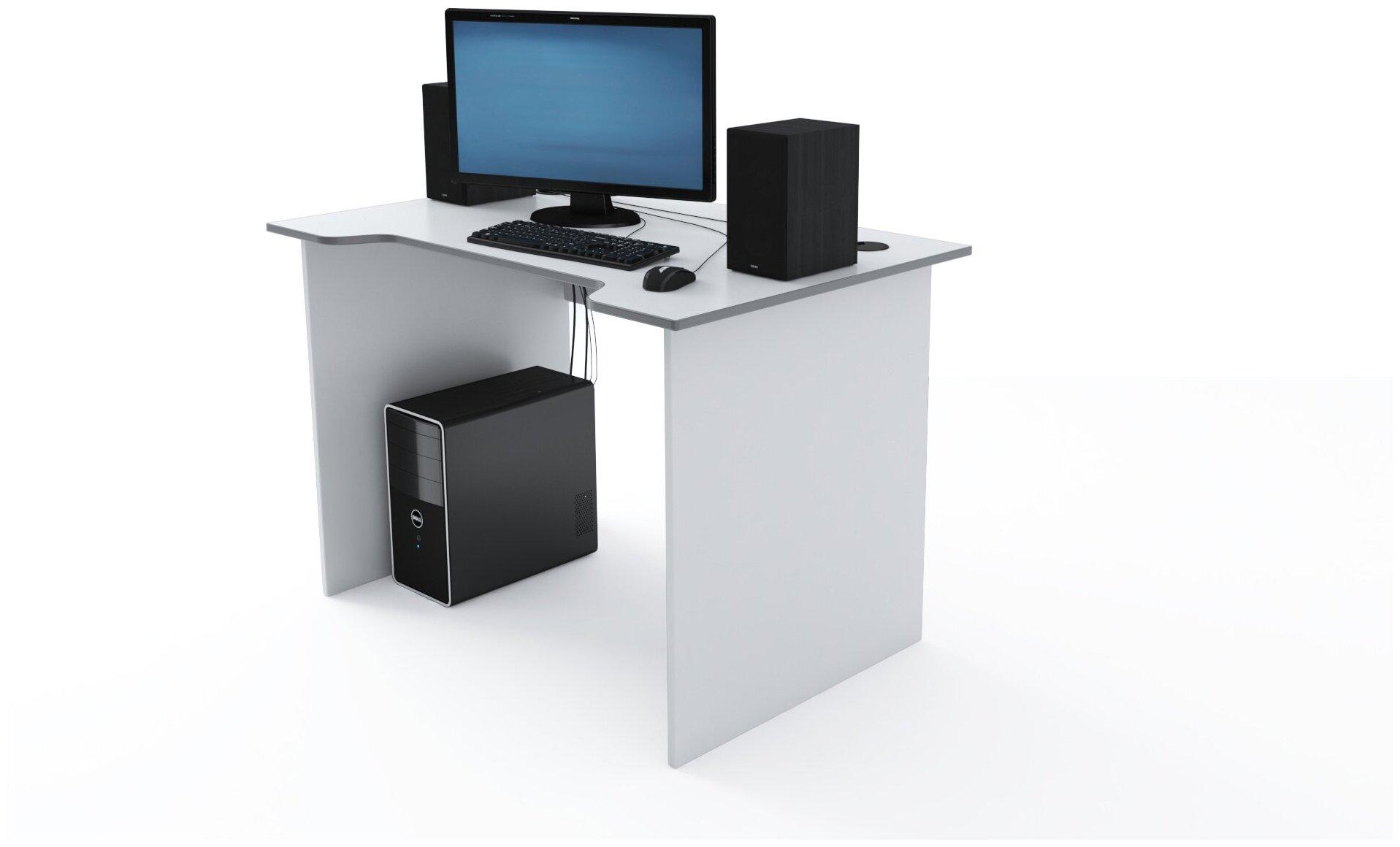 Стол Компьютерный Jedi 1100 Белый/Серый — купить по выгодной цене на Яндекс.Маркете
