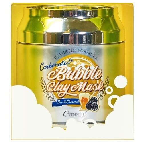 Esthetic House Formula carbonated bubble clay mask, 80мл Маска для лица пузырьковая urban dollkiss глиняно пузырьковая маска с угольным порошком carbonated bubble charcoal clay mask 100 мл