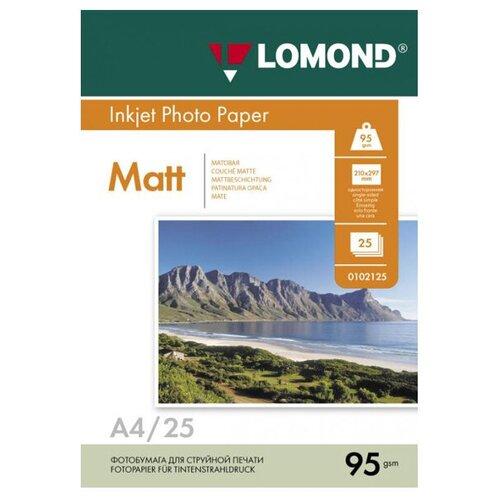 Фото - Фотобумага Lomond А4 95g/m2 матовая односторонняя 25 листов 102130 фотобумага lomond 100x150 180g m2 матовая односторонняя 50 листов 102063