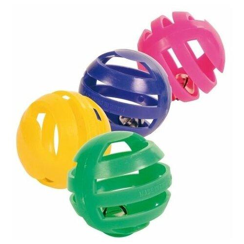 Набор пластиковых игрушек для кошки, 4 шт, Trixie (товары для животных, 4521)