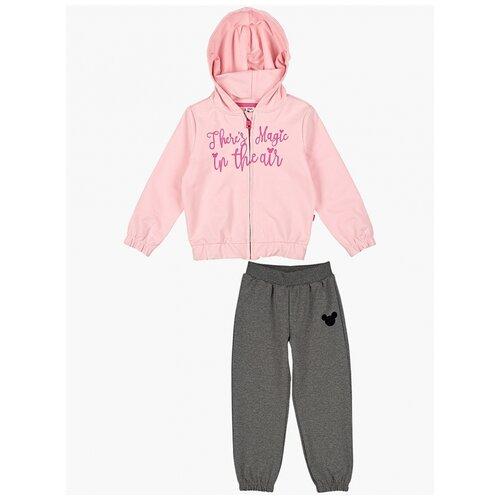 Спортивный костюм Mini Maxi размер 104, розовый/графит