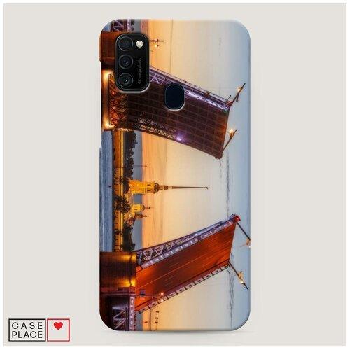 Чехол Пластиковый Samsung Galaxy M21 Разведенные мосты в СПб 1