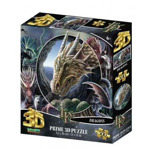 Купить Пазл Prime 3D Super Коллаж Драконы 500 элементов, Пазлы