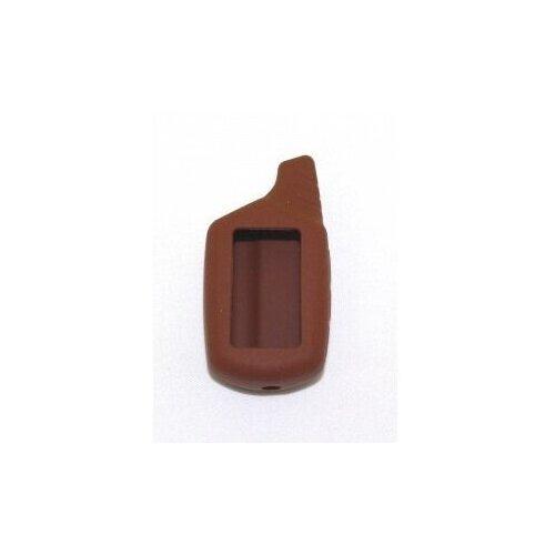 Чехол силиконовый Старлайн подходит для брелока ( пульта ) автосигнализации Starline B6 / B9 / A61 / A91 (Цвет темно-коричневый)