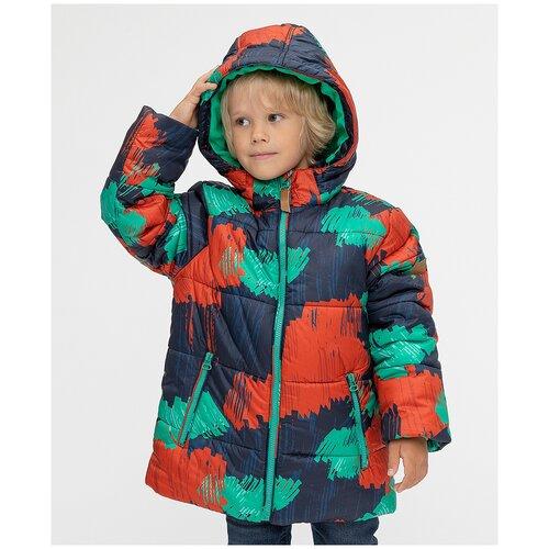 Фото - Куртка Button Blue размер 104, синий/оранжевый/зеленый куртка button blue 220bbbjc41024800 размер 140 зеленый