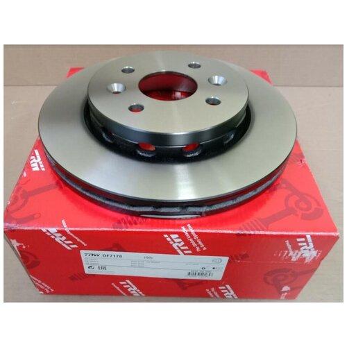 Диск тормозной передний Киа Спетктра Ижевск / арт. DF7178 / бренд TRW / Комплект 2 шт.