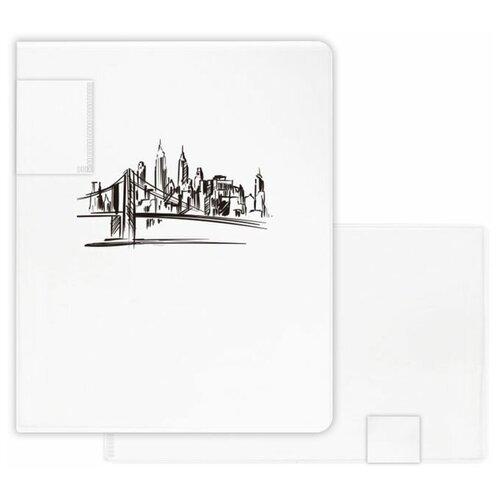 Папка-портфолио для документов пластиковая арт. 48307/ 12 ЭСКИЗ (полипропилен, формат А3, 31.5x24.5 см, 20 отделение (-я), 20 файлов А3 формата, УФ-печать)