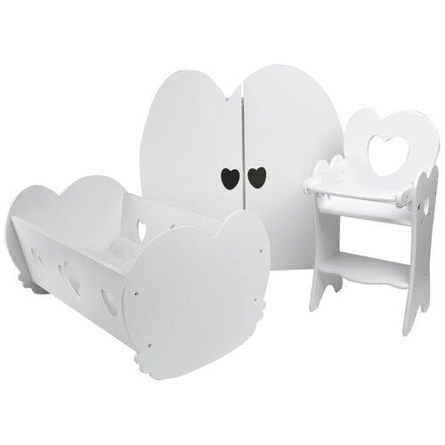 PAREMO Набор Мини кукольной мебели для детской (PFD120M) белый