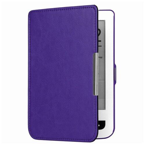 Чехол-обложка футляр MyPads для PocketBook 624 Basic Touch / PocketBook 614 Basic 2/ PocketBook 615 из качественной эко-кожи тонкий с магнитной застежкой фиолетовый