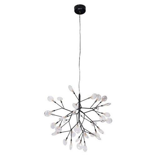 Подвесная люстра светодиодная EVITA SP36 BLACK/TRANSPARENT (Crystal Lux) недорого