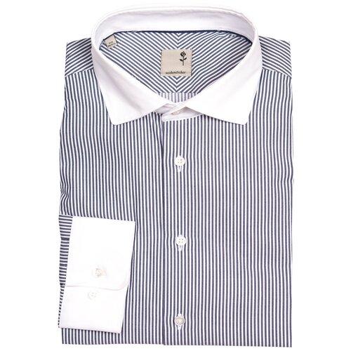 Рубашка Seidensticker размер 39 бежевый/синий