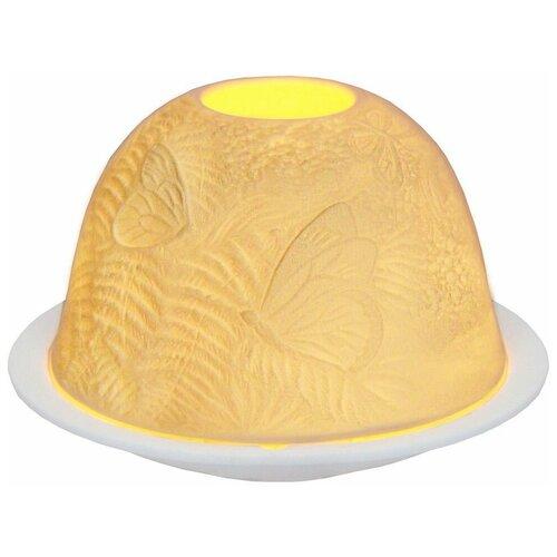 Подсвечник для чайной свечи волшебные бабочки, фарфор, 8х12 см, SHISHI 30659