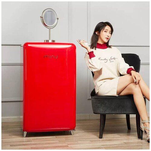Холодильник Xiaomi MiniJ Retro Light Series BC-M121CG (Red)