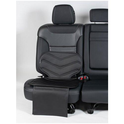 Чехлы (накидки) под бустеры. Защита сидений авто. Цвет: черный. 1 шт. Фаворит