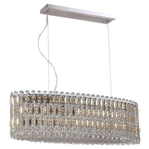 Подвесной светильник хрустальный LIRICA SP10 L900 CHROME/GOLD-TRANSPARENT (Crystal Lux)