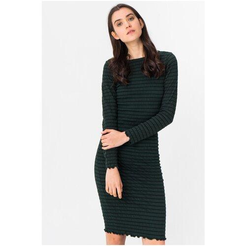 Хлопковое облегающее платье 15184343 Jacqueline De Yong Серый Scarab 46 M Женский Однотонный