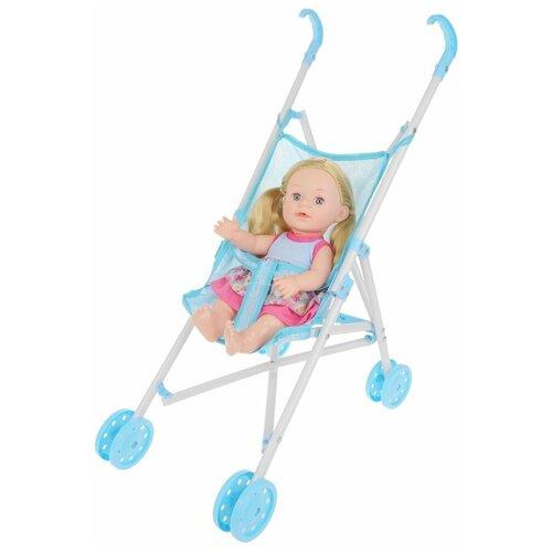 Фото - Кукла-пупс Наша Игрушка На прогулке, с коляской-тростью, Бал цветов (M1264-1B) кукла наша игрушка на прогулке 15 см лошадка