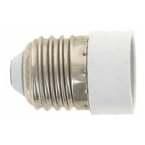 Патрон для лампы Патрон переходник с цоколя Е27 на Е14 белый для лампы, 1 шт
