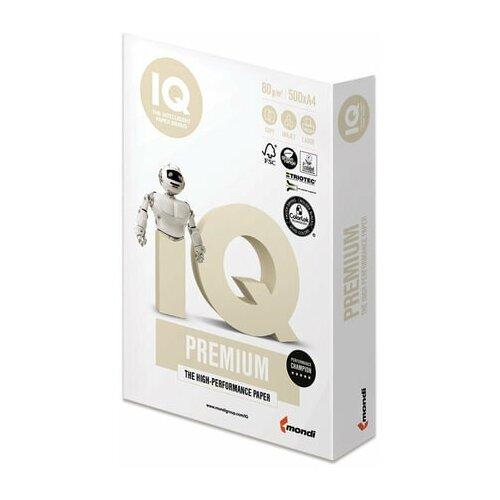 Фото - Бумага офисная IQ PREMIUM, А4, 80 г/м2, 500 л., марка А+, Mondi, белизна 170% бумага iq allround а4 марка в 80 г м2 500 листов
