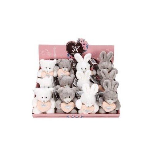 Angel Collection Игрушка 'Валентинка' 14 см (мишка,зайка) цена за штуку