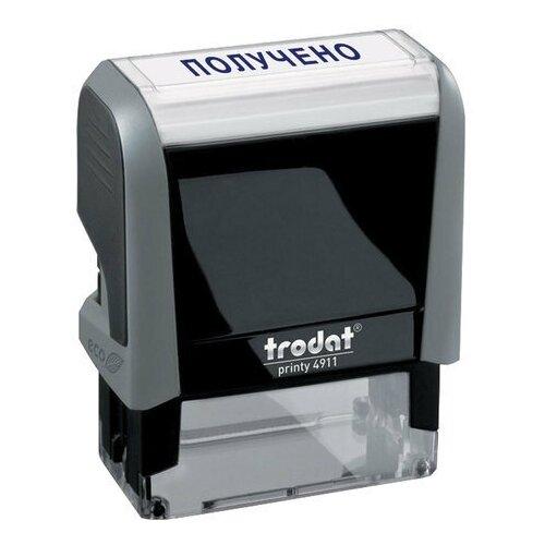 Фото - Штамп стандартный получено, оттиск 38х14 мм, синий, TRODAT 4911P4-1.1, 53557 штамп trodat 4911p4 1 23 прямоугольный исх синий