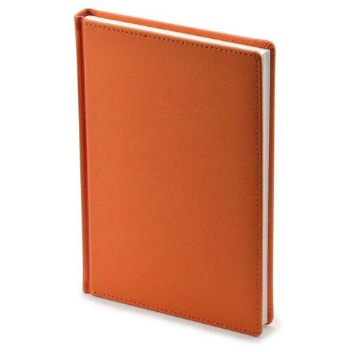 Купить Ежедневник недатированный Attache Velvet искусственная кожа A5+ 136 листов оранжевый (146х206 мм) 1 шт., Ежедневники