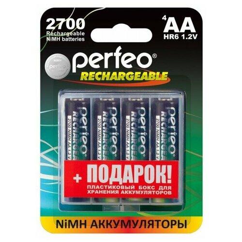 Фото - Аккумулятор Perfeo AA2700mAh/4шт+BOX аккумулятор perfeo aa2500mah 2шт