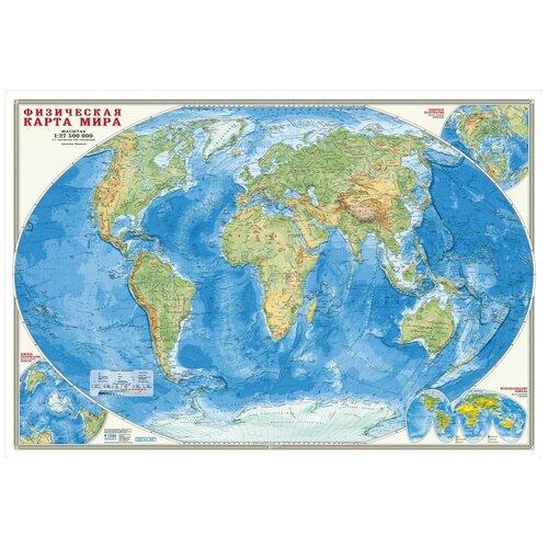 Фото - Карта настенная Мир Физический, 1:27,5млн., 101*69см Геодом (ISBN 978-5-906964-56-4) карта настенная россия физическая 1 5 2млн 107 157см геодом