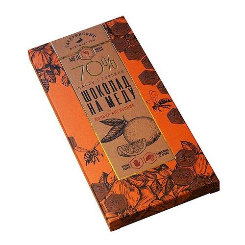 Шоколад на меду Премиум горький, 70% какао, с апельсином Гагаринские Мануфактуры 70 г шоколад libertad royal горький с апельсином 2 3 кг