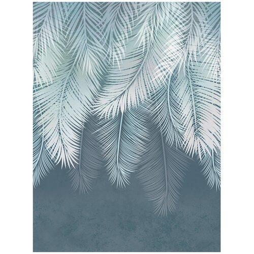 Фотообои Листья пальмы в темных тонах/ Красивые уютные обои на стену в интерьер комнаты/ 3Д расширяющие пространство над кроватью или над столом/ На кухню в спальню детскую зал гостиную прихожую/ размер 200х270см/ Флизелиновые