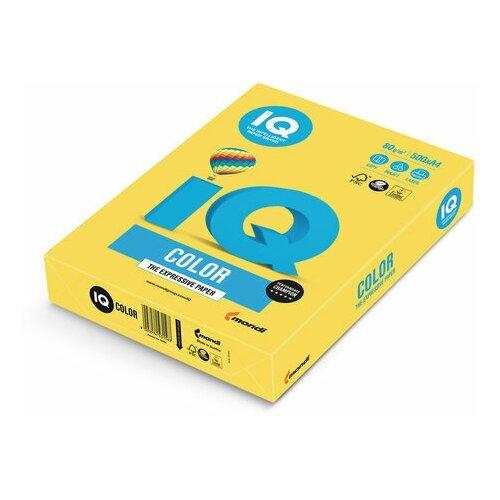 Фото - Бумага цветная IQ color, А4, 80 г/м2, 500 л., интенсив, канареечно-желтая, CY39 бумага цветная iq color а4 160 г м2 100 л 5 цветов x 20 листов микс интенсив rb02