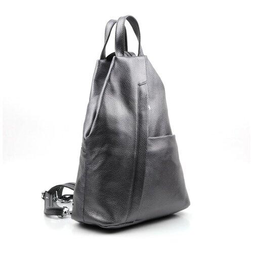 Рюкзак кожаный Sergio Valentini СА 7022/ Сильвер