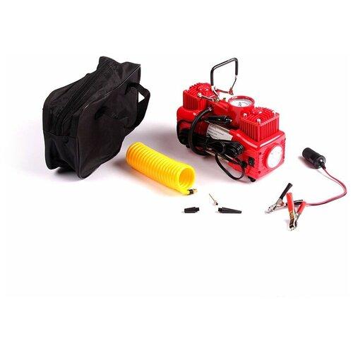 Автомобильный компрессор DreamCar DK-60LV2 Original LED 2-х поршневой с фонариком