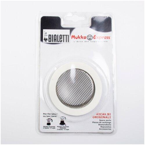 1 уплотнитель + 1 Фильтр Bialetti для кофеварки Mukka Express