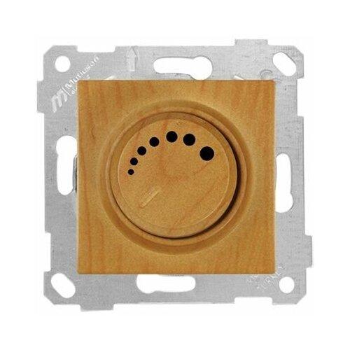 Выключатель поворотный (диммер) (скрытый, без рамки, винт. зажим, 600Вт) дуб, RITA, MUTLUSAN (220VAC, 60 - 600VA, 50 Hz, IP20) (2200 440 0258)