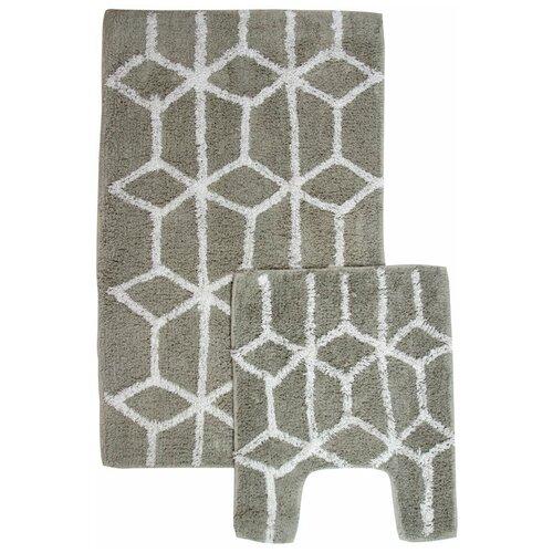 Ковры/Половики/Напольные коврики противоскользящие/Набор ковриков для ванной и туалета/Комплект ковриков для ванной и туалета 2 шт.