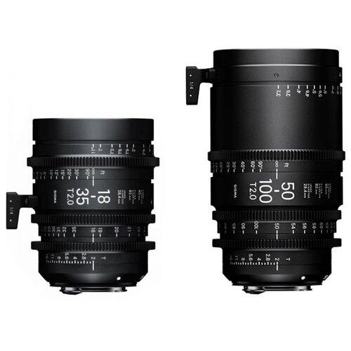 Фото - Набор объективов Sigma 18-35mm T2 VE(M) + 50-100mm T2 VE(M) + кейс PMC-001 черный крышка lcf 95iii для объективов sigma 95мм