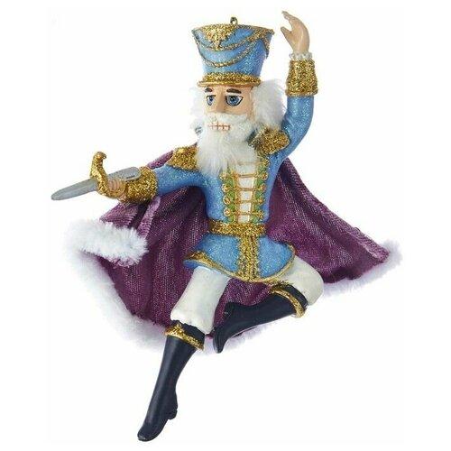 Фото - Ёлочная игрушка щелкунчик, полистоун, 15 см, Kurts Adler ёлочная игрушка кошечка делфтский фарфор 10 см разные модели kurts adler j0936