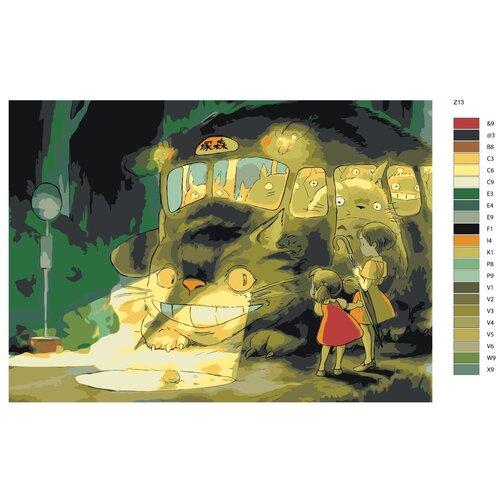 Картина по номерам «Тоторо и ребята» 50х70 см (Z-13)